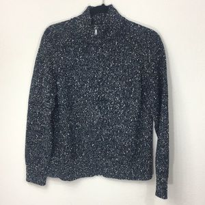 Liz Claiborne Petite Knitted Marble Zip Sweater